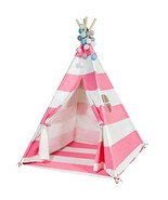 Touch-Rich 6FT Durable Teepee for Kids, Indian Play Tent, Sturdy & Safe ... - $46.41