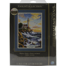 """Dimensions/Gold Collection Counted Cross Stitch Kit 11""""X17""""-Rocky Point (18 Coun - $40.75"""