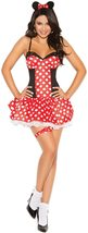 Women's Sexy Polka Dot Minnie Mouse Adult Role Play Costume image 1
