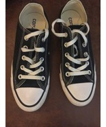 Converse Black Lo tops Womens Sz 6 All Star Chucks - $25.73