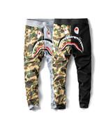 A BATHING APE Shark Head Pants BAPE Baggy Sweatpants Men's Camo Trousers... - £16.14 GBP