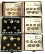 6 Sets BGE Originales Blazer Jacket Buttons 18K Gold Eagles Crests Water... - $49.90