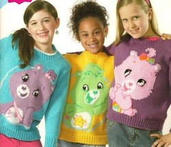Care Bears Knit Sweaters for Kids: hand knitting patterns, sizes 4-10, 5 designs - $38.56