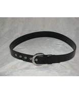 $42 Michael Kors Silvertone & Black Belt 28-30-32 NEW - $28.70