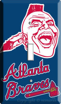 Atlanta Braves Mlb Baseball Single Light Switch Plate Game Tv Room Decoration - $8.99