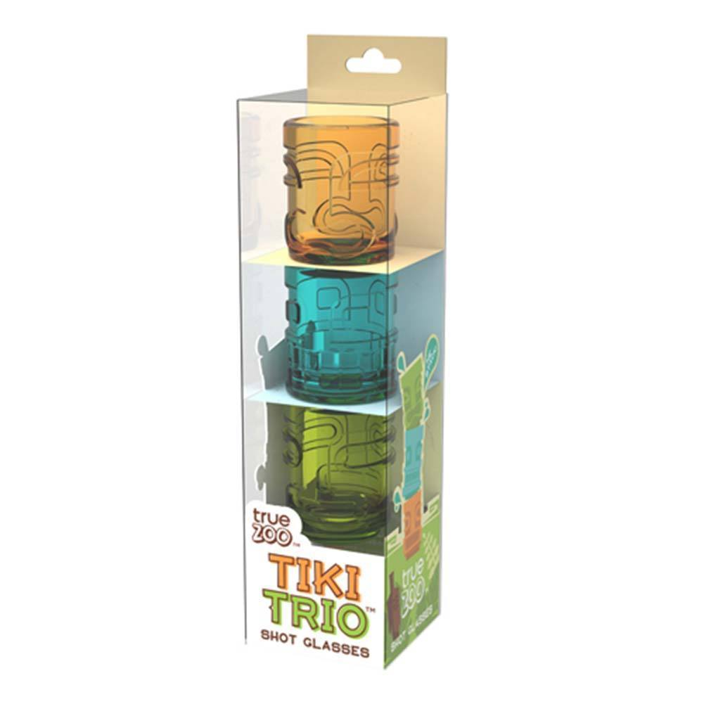Tiki Trio Shot Glasses Orange