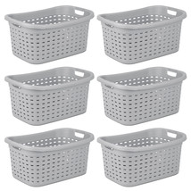 Sterilite Weave Laundry Basket with Wicker Pattern, Cement (6 Pack) | 12... - $59.99