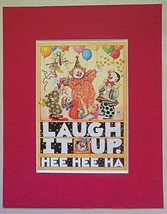 "Mary Engelbreit Print Matted 8 x 10 ""Laugh It Up"" - $16.40"