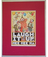 """Mary Engelbreit Print Matted 8 x 10 """"Laugh It Up"""" - $16.40"""