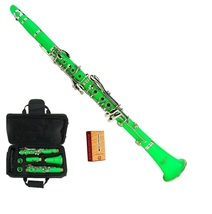 Merano New Bb Green Clarinet with Case and Extra 10 Reeds - $86.99