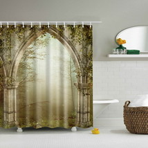 Vintage Door bathroom curtains polyester cortina banheiro waterproof shower cur - $35.69