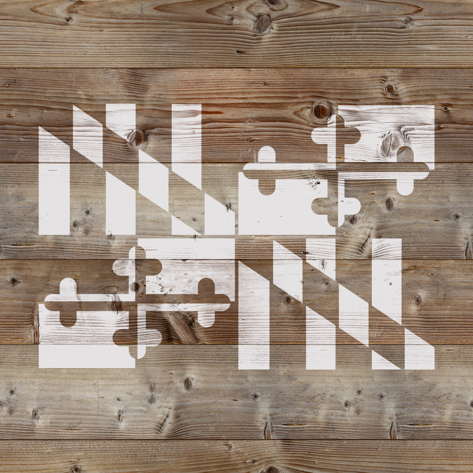 Maryland Flag Stencil - Reusable Stencils of the Maryland Flag - Made in USA!