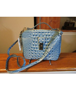 Brahmin Evie Cerulean Melbourne Small Crossbody Bag Embossed Leather NWT - $158.39