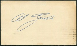AL ZARILLA SIGNED 1948 GOV'T POSTCARD ST LOUIS BROWNS BOSTON RED SOX WHI... - $13.85