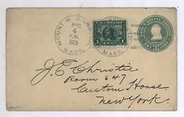 1915 Mount Washington Mass Ben Franklin & Scott #397 Cover to New York C... - $11.99