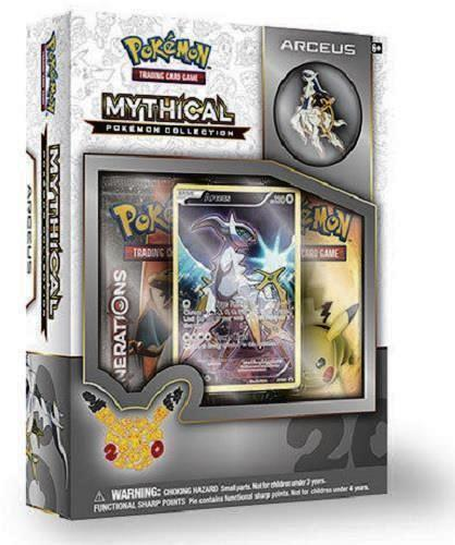 POKEMON Mythical Arceus + Genesect Mythical Collection Pin Box Generations Packs