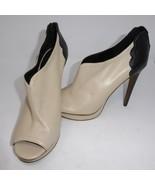 "Trouve Open Toe 5"" High Heel Sz 9 B 2 Tone Oxford Womens Shoe Leather Sl... - $18.52"