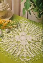 Brightener Homeward Nosegay Doily Festive Armchair Table Top Crochet Pat... - $9.99