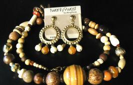 Twenty 9 West Long Necklace & Pierced Earrings Set - $14.99