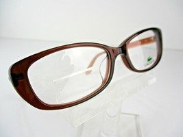 NEW Lacoste L-2697A  (210)  Brown Transparent  54 X 17 140 mm Eyeglass Frames - $54.66