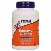 NOW Supplements, Sunflower Lecithin 1200 mg with Phosphatidyl Choline, 100 So... - $11.54
