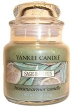 Yankee Candle Sage & Citrus Small Jar Candle, Fresh Scent 3.7 oz - $12.00