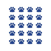 LiteMark 1 Inch Blue Cat Paw Prints - Pack of 60 - $19.95