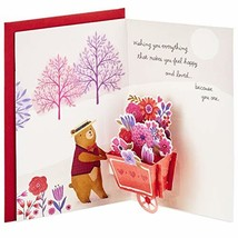Hallmark Paper Wonder Pop Up Valentines Day Card for Anyone Beary Loved ... - $22.37