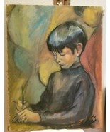 Mid Century Original Oil Painting Frederick A Frederickson YOUNG BOY Sig... - $195.00