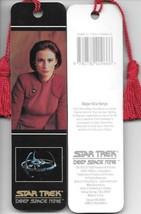 Star Trek Deep Space Nine Kira Photo Tasseled Laminate Bookmark 1993 NEW UNUSED - $4.99