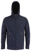 Spyder Men's Blue Full Zip Hooded Waterproof Softshell Hydroweb Jacket C... - $69.99