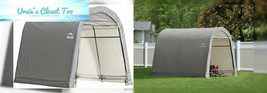 ShelterLogic 10' x Shed-in-a-Box All Season Steel Metal Round Roof Outdo... - $320.43