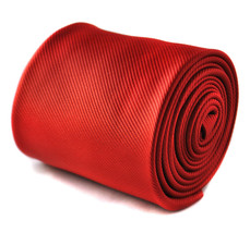 Frederick Thomas Plain Red Handmade Mens Wedding Tie FT1625
