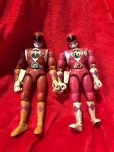 "Vintage Power Rangers 8"" Red & Pink Year 1994 Bandai - $75.00"