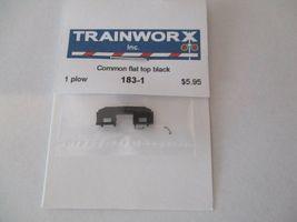 Trainworx Stock #183-1 Snowplow  Common Flat Top Black N-Scale- image 3