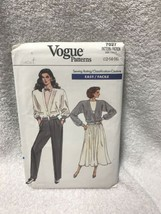 Vogue 7027 Misses Unlined Jacket Flared Skirt Pants Vintage Sewing Pattern - $12.86