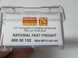 Micro-Trains #46900102 National Fast Freight 53' Corrugated Container N-Scale image 3