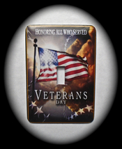 Veterans Metal Switch Plate Military - $9.50