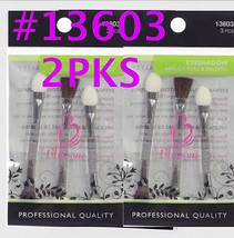 "2 Packs Of Blossom Eyeshadow Applicator & Brushes #13603 3 PC/PK 2.75"" Long - $2.66"