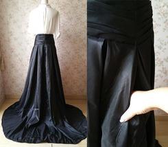 Dressromantic High/low Maxi Ball Evening Skirt- Black, high waisted, pockets image 5