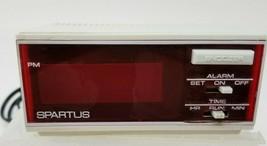 Vintage Spartus Red LED Digital Clock 1172 - $9.85