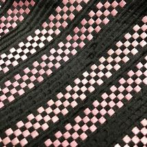 GEOFFREY BEENE BLACK Pink SQUARE BLOCKS Stripe SILK NECKTIE TIE Unique image 3