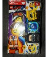 The Lego Movie 2 Boys 5 Pair Cotton Briefs Underwear Size 6 NEW - $14.58