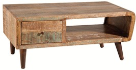 XL Rustic Industrial Mid Century Modern Reclaimed Wood Cocktail Coffee T... - €434,40 EUR