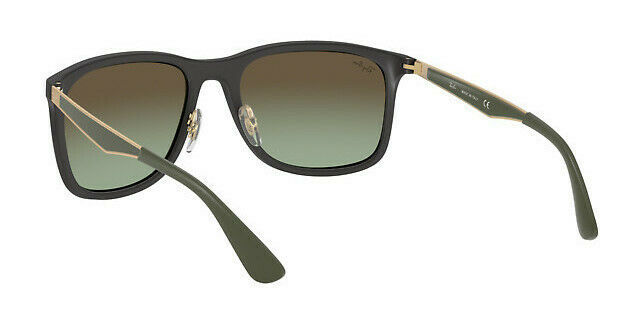 Ray Ban RB4313 601SE8 Matte Black Olive Green Sunglasses Authentic 58mm
