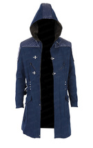 DCM Devil May Cry 5 Nero Trench Blue Coat Hoodie - $135.00