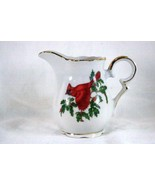 Lefton Christmas Cardinal And Holly With Berries Creamer - $41.57