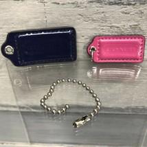 Coach Purse Hang Tag Key Chain Pink & Blue - $6.44