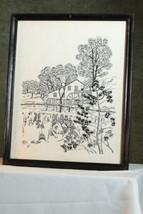Antique NEEDLEWORK Vintage Framed Needlepoint H... - $99.99