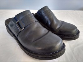 Clarks Womens Size 7M Dark Green/Blue Leather Mules Clogs Slides Loafers... - $14.03